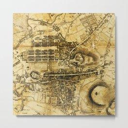 1818 Old Map of Edinburgh Metal Print