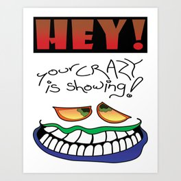 HEY! (for light colors) Art Print