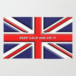 Keep Calm and Zip it Rug