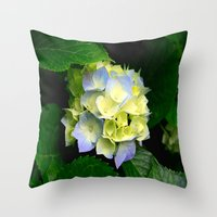 hydrangea Throw Pillows featuring Hydrangea  by Chris' Landscape Images & Designs