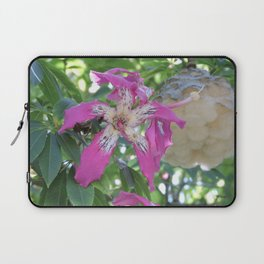 Silk Floss Tree Blossom & Fluff Laptop Sleeve