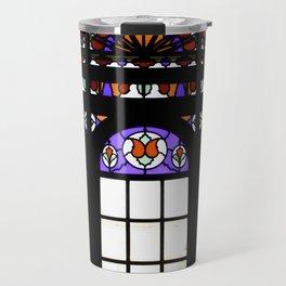 Colorful Rainbow Stain Glass Persian Window Art Travel Mug
