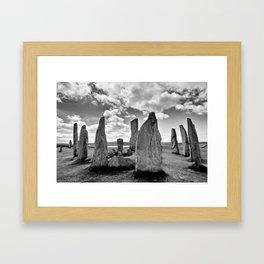 Stone Circle Callanish Stones Framed Art Print