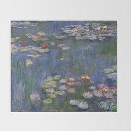 Water Lilies - Claude Monet Throw Blanket