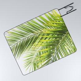Palm leaves tropical illustration Picnic Blanket