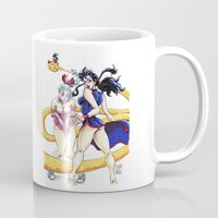dbz Mugs featuring DBZ Pin Up 1 by Juan Pablo Cortes