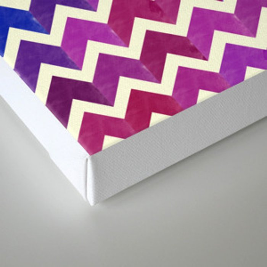 Colorful Chevron Pattern II Canvas Print