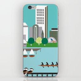 Boston, Massachusetts - Skyline Illustration by Loose Petals iPhone Skin