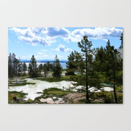 West Thumb Yellowstone Lake Canvas Print