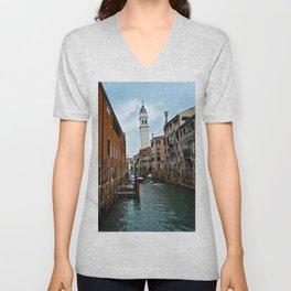 Leaning Venice Unisex V-Neck