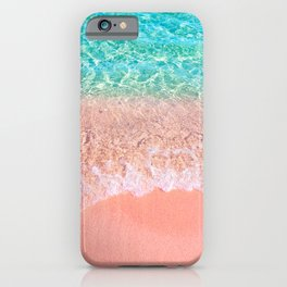 Dreamy seaside photography, water and sand in magical colors iPhone Case