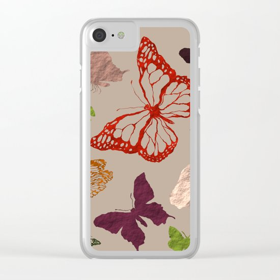 Autumn butterfly neutral Clear iPhone Case