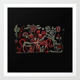 Ritual gathering 1 Art Print