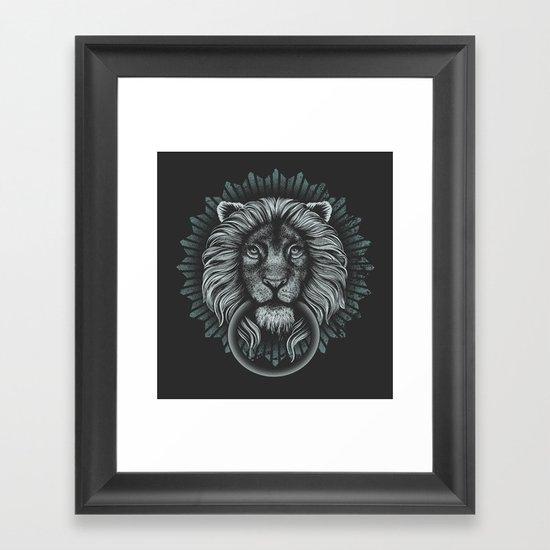 Stone Lion Framed Art Print