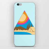 camping iPhone & iPod Skins featuring Camping by Wendy Ding: Illustration