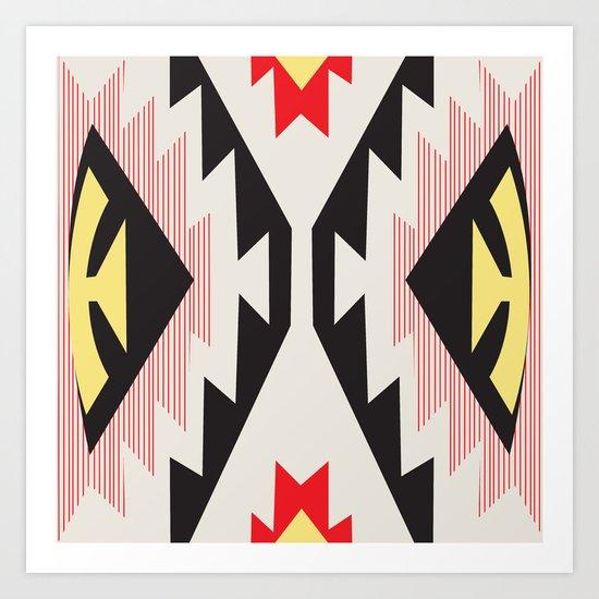 American Native Pattern No. 45 Art Print