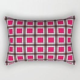 Ruby Red Plaid Pattern Rectangular Pillow