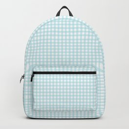Bright Blue Gingham Backpack