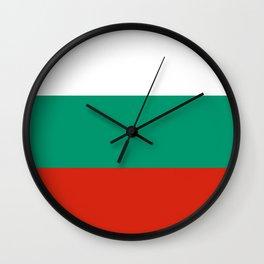 flag of bulgaria -bulgarian, България,български,slav,cyrillic,Sofia,bulgaria Wall Clock
