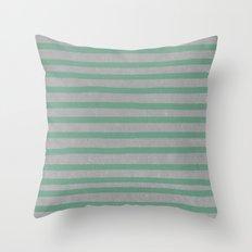 Concrete & Stripes Throw Pillow