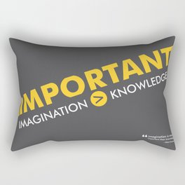 Lab No. 4 - Albert Einstein Typography Print Inspirational Quotes Poster Rectangular Pillow