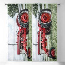 International Harvester Farmall 240 Side View Red Farming Tractor Blackout Curtain