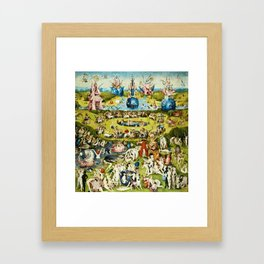 Hieronymus Bosch - The Garden Of Earthly Delights Framed Art Print