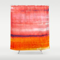 rothko Shower Curtains featuring Summer heat by Picomodi