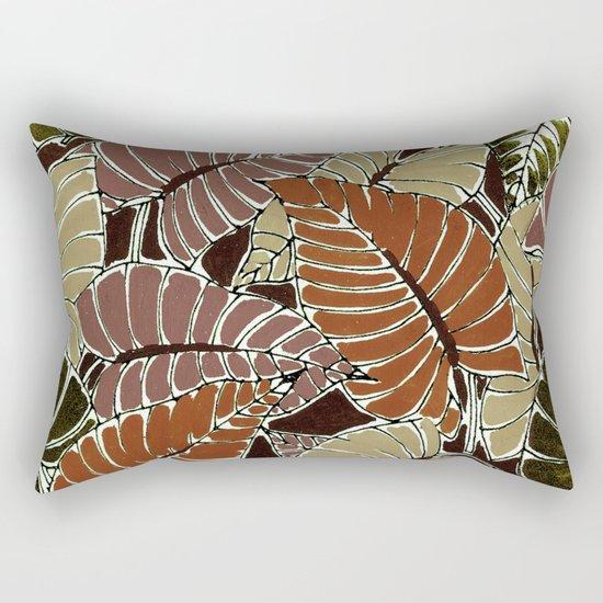 50's bongo leaf Rectangular Pillow