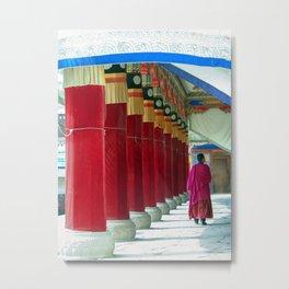 Monk in Monastery Xiahe   Travel Photography Metal Print