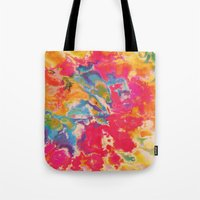 tie dye Tote Bags featuring Tie Dye by The Dope Scope