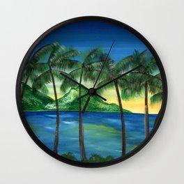 Hawaiian Seabreeze Wall Clock