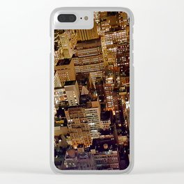 manhattan lights Clear iPhone Case