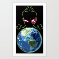 invader zim Art Prints featuring Invader Zim by Proxish Designs