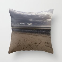Dark clouds and clear sky Throw Pillow
