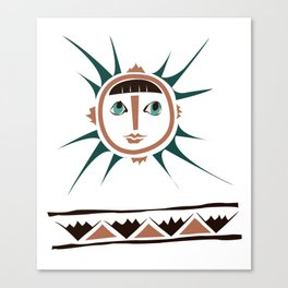 Elments-Fire/Sun Canvas Print