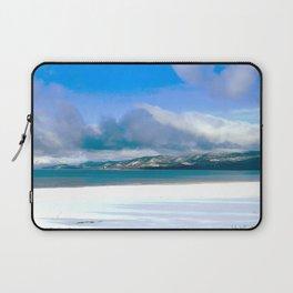 Frozen Snowy Lake Laptop Sleeve