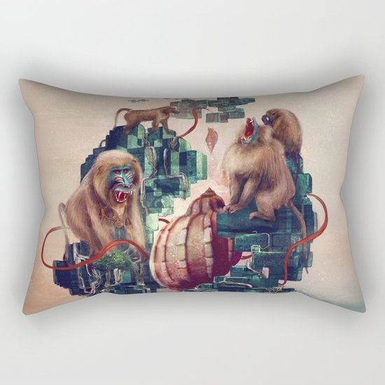 monkey temple Rectangular Pillow