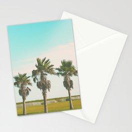 3 Retro Palms Stationery Cards