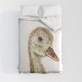 smiling little duck Comforters