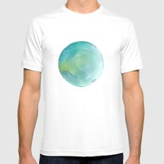 Watercolour 02 Mens Fitted Tee White MEDIUM