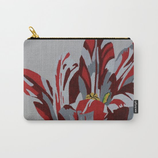 Red & White Tulip Carry-All Pouch