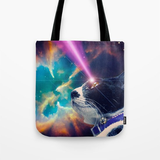 Neko San in Space Tote Bag