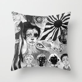 21 eyes Throw Pillow