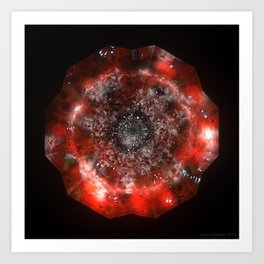 The Eye of Cyma: Fire and Ice - Frame 49 Art Print