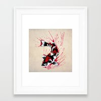 koi fish Framed Art Prints featuring Koi by Puddingshades
