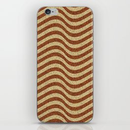 Curving Brown Grainy Pattern iPhone Skin