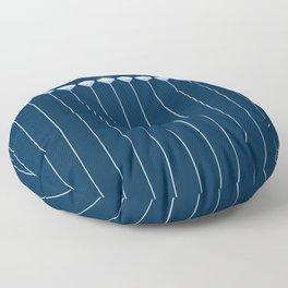 Pinstripe in Diamond Head Pins Floor Pillow