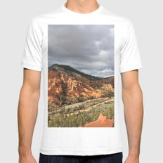 Red Canyon White Mens Fitted Tee MEDIUM