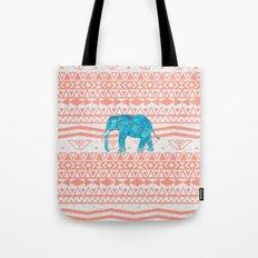 Elephant Blues Tote Bag